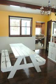 Dining Room Sets Bench Picnic Table Style Dining Room Sets Bench For Use As Furniture
