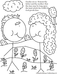 mother coloring pages honor thy father and thy mother coloring page