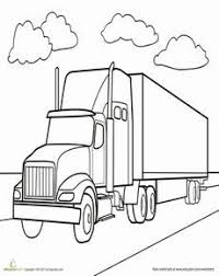 18 wheeler coloring pages coloring page cartoon