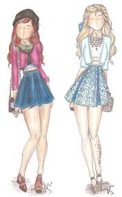 princess and prince dresses sketches for handmade pencil color