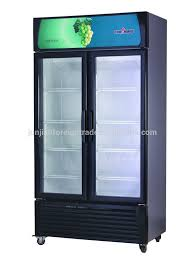 Table Top Refrigerator Supermarket Equipment Guangzhou Manufacturer 3 Door Glass Mini