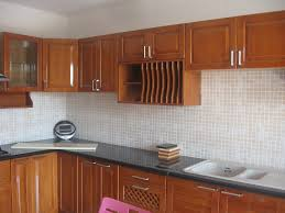 Modern Cherry Wood Kitchen Cabinets Kitchen Handsome Small Modular Kitchen Decoration Using Small Red