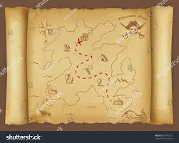 Blank Pirate Map Template by Treasure Map Stock Vector 617902721 Shutterstock