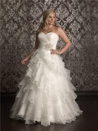 ball gown sweetheart sweep train organza plus size wedding dress
