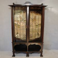 Glass Display Cabinet Perth Print Page Edwardian Art Nouveau Mahogany Display Cabinet