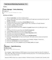 digital marketing resume digital marketing resume 7 free word pdf documents downlaod