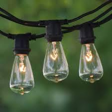 c9 incandescent light strings 25 black commercial c9 string light vintage edison clear bulbs