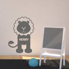 personalised name on lion wall sticker baby name wall decals