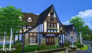 simsational designs the burrow a tudor house for windenburg