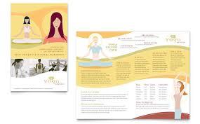 yoga instructor u0026 studio brochure template design