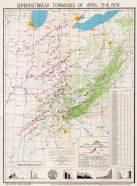 Map Of Ohio And Indiana by The Super Outbreak Of April 3 4 1974