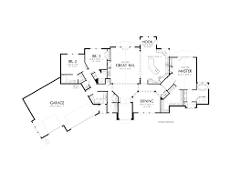 house plans with rear view single story house plans cottage house plans