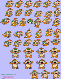 mario wrapping paper resized bowser sprites paper mario color splash by asktimeman on
