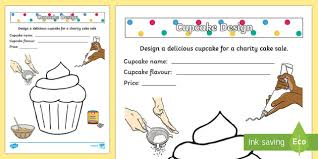 design a cake a spotty cake worksheet activity sheet
