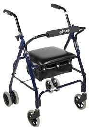 elder walker mimi lite push brake rollator walker drive
