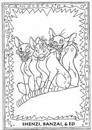 hyenas coloring book