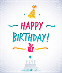 elegant happy birthday card vector free download