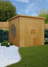 bright and modern designer garden shed save photo jml garden rooms