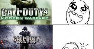 Call Of Duty Memes - cuánto cabrón evolución de la saga call of duty con memes