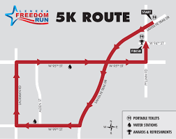 Map Run Route by Freedom Run City Of Lenexa