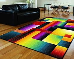 Modern Colorful Rugs Delerus Multicolor Area Rug Contemporary Rugs By Rugpal Inside