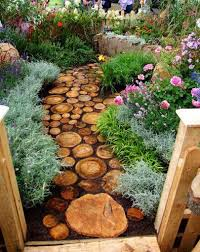 Rustic Backyard Ideas Rustic Backyard Landscape Ideas With Wooden Log Walkways And