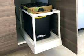 built in trash can cabinet garbage can cabinet innovative kitchen concept endearing pull out