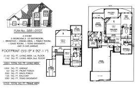 4 Bedroom Townhouse Floor Plans 2 Story House Floor Plans With Basement Basements Ideas