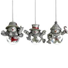 buy celebrations by mikasa set of 3 snowman snow goble ornaments