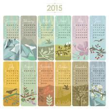 2015 calendar cards floral vector vector calendar vector card