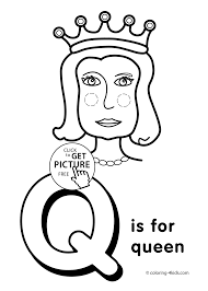 free letter q coloring pages