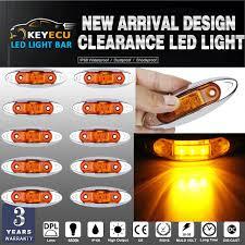 keyecu 10pcs universal led side clearance markers lights for
