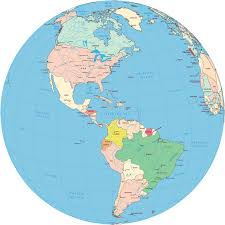 Political Map Of Latin America by Americas Political Map Globe