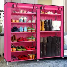 shoe organizer pink shoe rack for closet u2014 derektime design shoe rack for