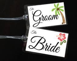 and groom luggage tags wedding luggage tags etsy