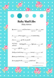 baby mad libs baby shower mad lib sorepointrecords