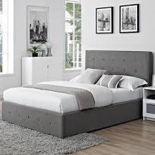 Grey Upholstered Ottoman Bed Ottoman Grey Wayfair Co Uk