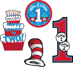 Thing One And Thing Two Party Decorations Seuss Thing 1 U0026 Thing 2 Twins U003cbr U003epersonalized