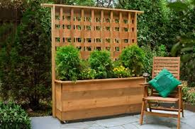 Wooden Planter With Trellis Trellis Planter Box
