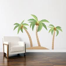 palm tree island printed wall decal