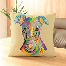 pug home decor animal cushion cover printed dog for kid sofa 45x45cm pouf pug car