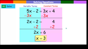 Multi Equations With Variables On Both Sides Worksheet Solving Equation With Variables On Both Sides Of The Equation