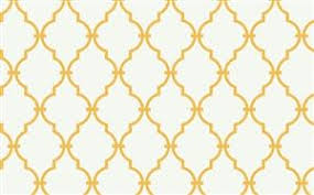 trellis wallpaper in off white and yellow by antonina vella