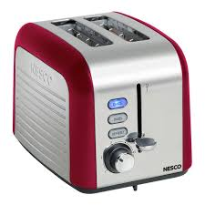 High End Toasters Nesco T1000 12 Red 1000 Watt 2 Slice Toaster Free Shipping Today