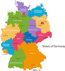 map of germany with states and capitals germany map blank political with cities in states and