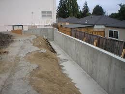 concrete wall long u0027s concrete contracting view photos of some concrete