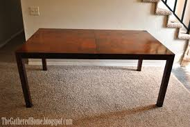 burl wood dining room table found vintage burl wood parsons dining table the gathered home