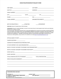 9 donation application form templates free pdf format download