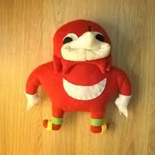 Knuckles Meme - ugandan knuckles plush toy handmade vrchat sonic meme de wey