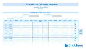 Free Timesheet Template Excel Free Timesheet Template Printable Timesheets Clicktime